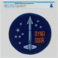 "Explorers:Space Exploration, U.S. Air Force: Ultra-Rare Original 6"" Boeing X-20 Dyna Soar Embroidered Patch Directly From The Armstrong Family Collecti..."