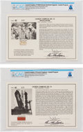 Explorers:Space Exploration, Gemini: NASA Launch Complex No. 19 Relics of Erector and White Room Floor on Limited Edition Illustrated Presentation Cards,... (Total: 2 Items)