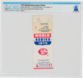 Explorers:Space Exploration, 1975 World Series Game 4 Used Ticket Directly From The Armstrong Family Collection™, CAG Certified. ...