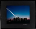 "Explorers:Space Exploration, Rich Scarpitta: ""Moonset - Stonehenge"" Photograph, 1995, Directly From The Armstrong Family Collection™, CAG Certified. ..."