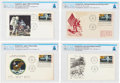 Explorers:Space Exploration, Philatelia: Apollo 11 and Moon Landing Four First Day Covers Directly From The Armstrong Family Collection™, CAG Certified. ...