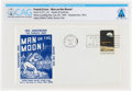 Explorers:Space Exploration, Philatelia: Man on the Moon! Postal Cover Directly From The Armstrong Family Collection™, CAG Certified. ...