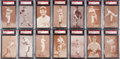 Baseball Cards:Lots, 1939-46 Salutation Exhibits Partial Set (45/83) With Holmes Variation. ...