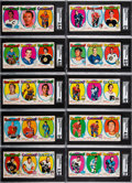 Hockey Cards:Lots, 1971 Bazooka Panel Hockey SGC Graded Near Set (10/12)....