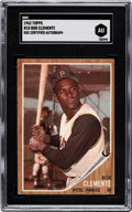 Autographs:Sports Cards, Signed 1962 Topps Roberto Clemente #10 SGC Authentic. ...