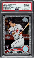 Baseball Cards:Singles (1970-Now), 2011 Topps Update Mike Trout Diamond Anniversary #US175 PSA Gem Mint 10....