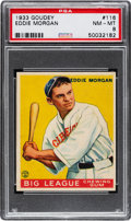 Baseball Cards:Singles (1930-1939), 1933 Goudey Eddie Morgan #116 PSA NM-MT 8 - None Higher....