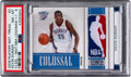 Basketball Cards:Singles (1980-Now), 2009 Panini National Treasures Kevin Durant Colossal Materials NBA Logoman #3 PSA NM-MT 8 - Numbered 1/1!...