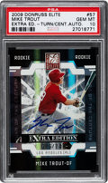 Baseball Cards:Singles (1970-Now), 2009 Donruss Elite Mike Trout Extra Edition Turn of the Century Autograph #57 PSA Gem Mint 10 - Numbered 86/149!...