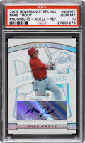Baseball Cards:Singles (1970-Now), 2009 Bowman Sterling Mike Trout Prospect Autograph Refractor PSA Gem Mint 10 - Numbered 179/199....