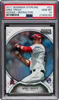 Baseball Cards:Singles (1970-Now), 2011 Bowman Sterling Mike Trout Rookie Refractor #22 PSA Gem Mint 10 - Numbered 59/199!...