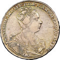 Russia, Russia: Catherine I Rouble 1727 VF25 NGC,...