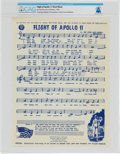 "Explorers:Space Exploration, Apollo 11: ""Flight of Apollo 11"" Sheet Music Directly From The Armstrong Family Collection™, CAG Certified. ..."
