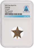 """Explorers:Space Exploration, Boy Scouts: Sterling Silver BSA Star Rank """"Be Prepared"""" Pin Directly From The Armstrong Family Collection™, CAG Certified...."""