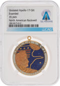 Explorers:Space Exploration, Apollo 17: Mission Insignia Pendant Directly From The Armstrong Family Collection™, CAG Certified....