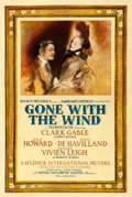 "Movie Posters:Academy Award Winners, Gone with the Wind (MGM, 1939). Good on Linen. Roadshow One Sheet(27.25"" X 40.75"") Style CF, Armando Seguso Artwork.. ..."