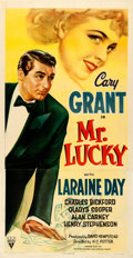 "Movie Posters:Romance, Mr. Lucky (RKO, 1943). Very Fine on Linen. Three Sheet (41"" X 80.25"").. ..."