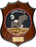 Explorers:Space Exploration, Apollo 11: Neil Armstrong Appreciation Plaque Directly From The Armstrong Family Collection™, CAG Certified. ...