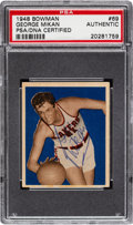 Basketball Cards:Singles (Pre-1970), Signed 1948 Bowman George Mikan #69 PSA/DNA Authentic - One of JustThree PSA Graded Examples!...