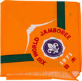 Explorers:Space Exploration, Boy Scouts XIII World Jamboree, Japan 1971, Worn Neckerchief Directly From The Armstrong Family Collection™, CAG Certified...