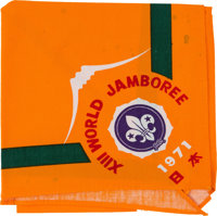 Boy Scouts XIII World Jamboree, Japan 1971, Worn Neckerchief Directly From The Armstrong Family Collection™, CAG C