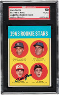 Autographs:Sports Cards, Signed 1963 Topps Pete Rose #537 SGC 50 VG/EX 4 - Auto 9....