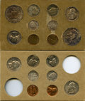 1955 1C-50C Mint Set Uncertified. Two examples of each issue (cents through half dollars, PDS) totaling 22 pieces in all...