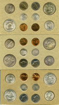 1954 1C-50C Mint Set Uncertified. Two examples of each issue (cents through half dollars, PDS) totaling 30 pieces in all...