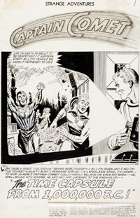 Murphy Anderson and Joe Giella Strange Adventures #29 Splash Page 1 Captain Comet Original Art (DC, 1953)