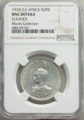 German East Africa:German Colony, German East Africa: German Colony. Wilhelm II Rupie 1910-J UNC Details (Cleaned) NGC,...