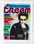 "Music Memorabilia:Original Art, John Lydon Creem ""Punk Rock Guide"" Mixed Media Print Signed by Lydon and Artist. . ..."