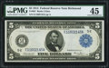 Large Size:Federal Reserve Notes, Fr. 861 $5 1914 Federal Reserve Note PMG Choice Extremely Fine 45.. ...