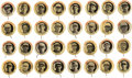 Baseball Cards:Singles (Pre-1930), 1922-23 PB4 Kolb's Mothers' Bread Pinbacks Complete Set (32) With Chief Bender. ...