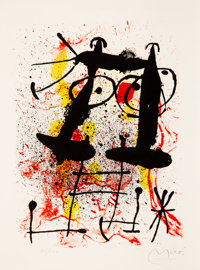 Joan Miró (1893-1983) Silence, from Hai-Ku, 1967 Lithograph in colors on wove paper 10-1/4 x 7-3/4 inches (26 x 1...