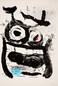 Prints & Multiples:Print, Joan Miró (1893-1983). The Empress, 1964. Lithograph in colors on Arches paper. 35-1/4 x 24 inches (89.5 x 61 cm) (sheet...
