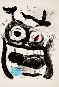 Joan Miró (1893-1983) The Empress, 1964 Lithograph in colors on Arches paper 35-1/4 x 24 inches (89.5 x 61 cm) (s...