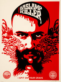 Shepard Fairey (b. 1970) Gaslamp Killer, 2008 Screenprint in colors on speckled cream paper 24 x 18 inches (61 x 45.7
