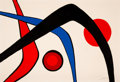 Fine Art - Work on Paper:Print, Alexander Calder (1898-1976). Les Trois Arches, n.d..Lithograph in colors on wove paper. 29-1/2 x 43-1/8 inches (74.9x...