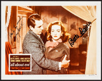 "All About Eve (20th Century Fox, c.1970s). Near Mint. Autographed Lobby Card Reproduction Photo (8"" X 10""). Ac..."