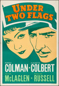 """Movie Posters:Adventure, Under Two Flags (20th Century Fox, 1936). Folded, Fine+. LeaderPress One Sheet (28"""" X 41""""). Adventure.. ..."""