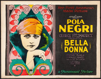"Bella Donna (Paramount, 1923). Very Fine-. Title Lobby Card (11"" X 14""). Drama"