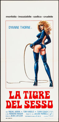 "Ilsa the Tigress of Siberia (P.A.C., 1978). Folded, Very Fine-. Italian Locandinas (2) (13.25"" X 27.5"") 2 Styl..."