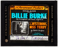 "The Mysterious Miss Terry and Other Lot (Paramount, 1917). Fine/Very Fine. Glass Slides (3) (3.25"" X 4""). Dram..."