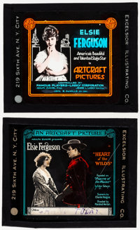 "Heart of the Wilds & Other Lot (Artcraft, 1918). Fine/Very Fine. Glass Slides (3) (3.25"" X 4""). Drama..."