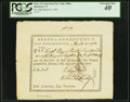 Colonial Notes:Connecticut, Connecticut Pay Table Office £4.1s.8d March 22, 1783 PCGS Extremely Fine 40.. ...