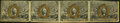Fractional Currency:Second Issue, Fr. 1232 5¢ Second Issue Uncut Horizontal Strip of Four Very Fine.. ...