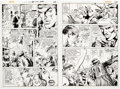 Original Comic Art:Panel Pages, Dick Giordano Superman's Girl Friend, Lois Lane #112 StoryPages 5-6 Rose and Thorn Original Art (DC, 1971).... (Total: 2Original Art)