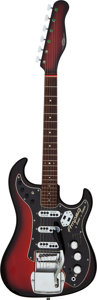 Musical Instruments:Electric Guitars, Circa 1964 Ampeg Jazz Redburst Solid Body Electric Guitar, Serial # 2720.. ...