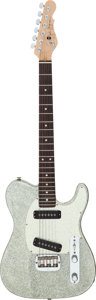 Musical Instruments:Electric Guitars, 1995 G & L John Jorgenson Silver Sparkle Solid Body Electric Guitar, Serial # G043839....