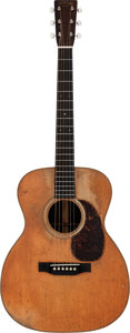 Musical Instruments:Acoustic Guitars, 1932 Martin OM-28 Natural Acoustic Guitar, Serial # 49937....